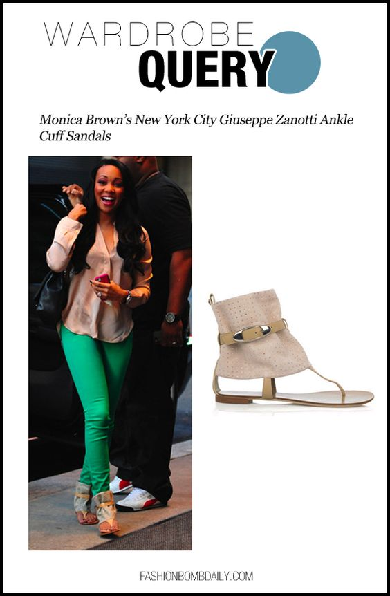 WQ-080712-Monica Brown's New York City Giuseppe Zanotti Ankle Cuff Sandals