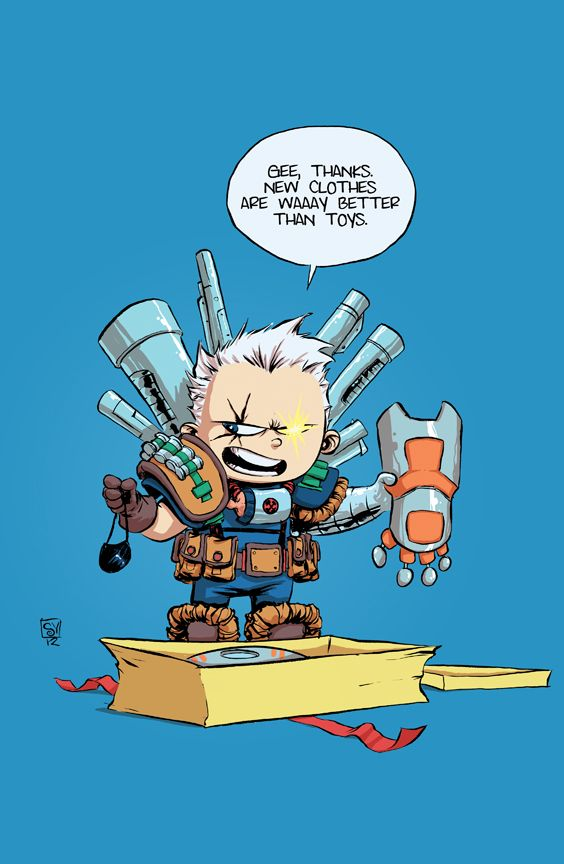 CableXforce baby via *skottieyoung on deviantART