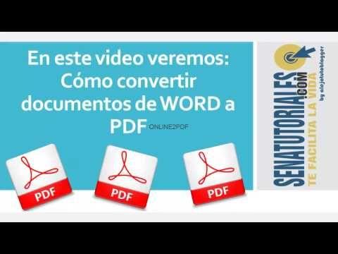 Convertir Documentos Word A Pdf Bien Explicado Youtube En 2020 Informatica Y Computacion Informática Computacion
