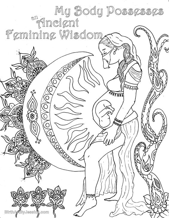 The Affirmations Coloring Book : Birth affirmation coloring page free printable feminine