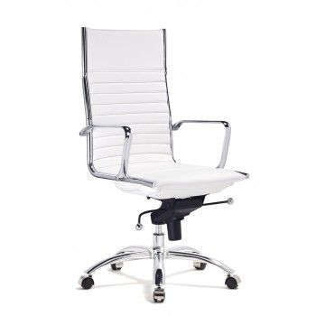 hudson high back office chair white modani bathroomhandsome chicago office chairs investment furniture