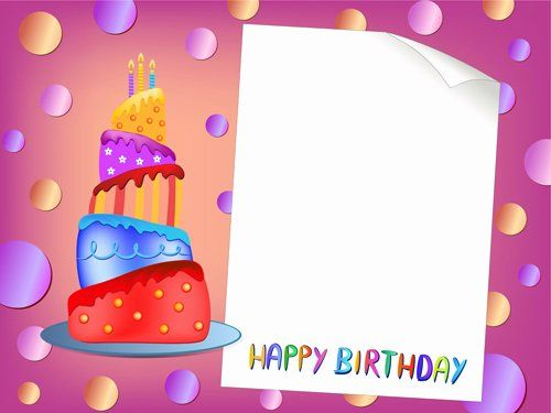 Happy Birthday Card Template Elegant Blank Paper With Birthday Card Vector 01 Free Birthday Card Template Birthday Cards Images Birthday Card Template Free