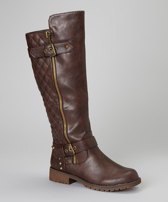 Brown Vivienne Boot | Daily deals for moms, babies and kids
