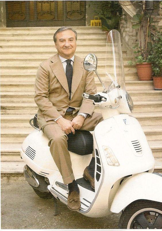 Italian men on Vespas: Patrizio Cappelli