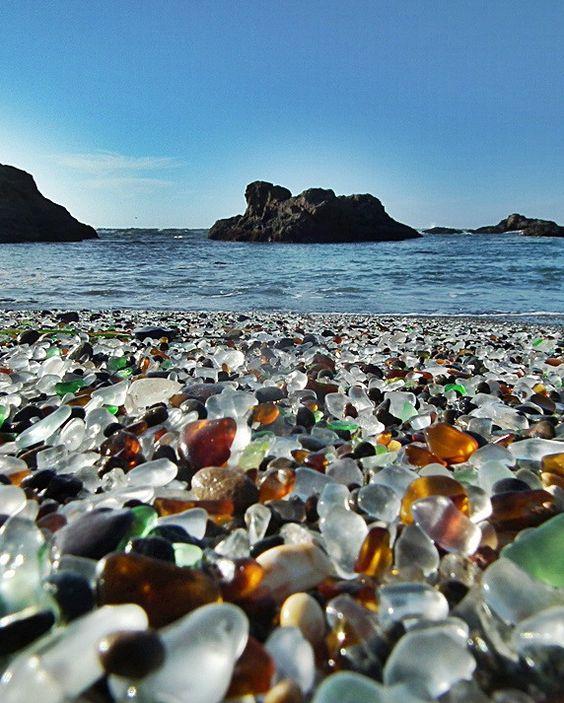 Glass Beach, California OMG Paradise!