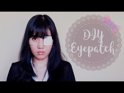 Diy Eye Patch For Cosplay Anime Inspired Diy I Wear A Bow
