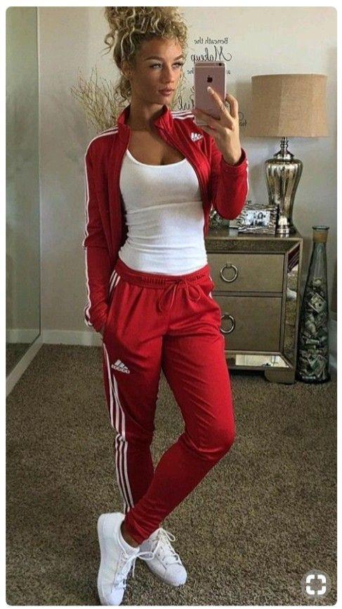 survêtement adidas red femme