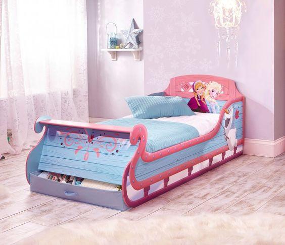 Disney Frozen Single Sleigh Bed - HelloHome