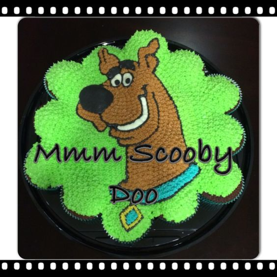 Scooby doo cupcakes cake: