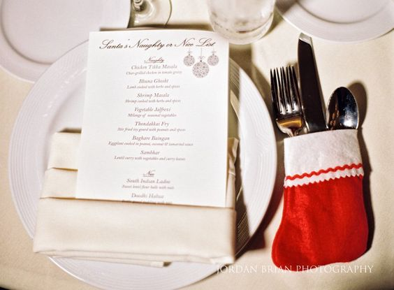 Philadelphia Downtown Marriott Christmas themed wedding reception. Photos by Jordan Brian Photography.
