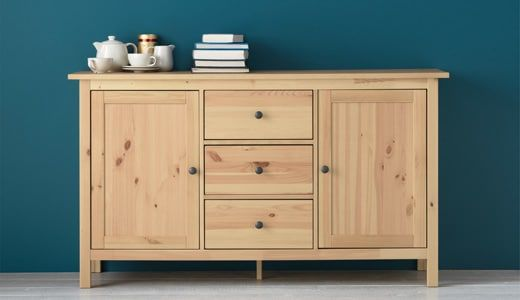 Looking For Sideboards Buffets Or Console Tables Ikea Has Many To Choose From This Hemnes Light Brown Sideb Ikea Buffet Dining Room Buffet Ikea Dinning Room