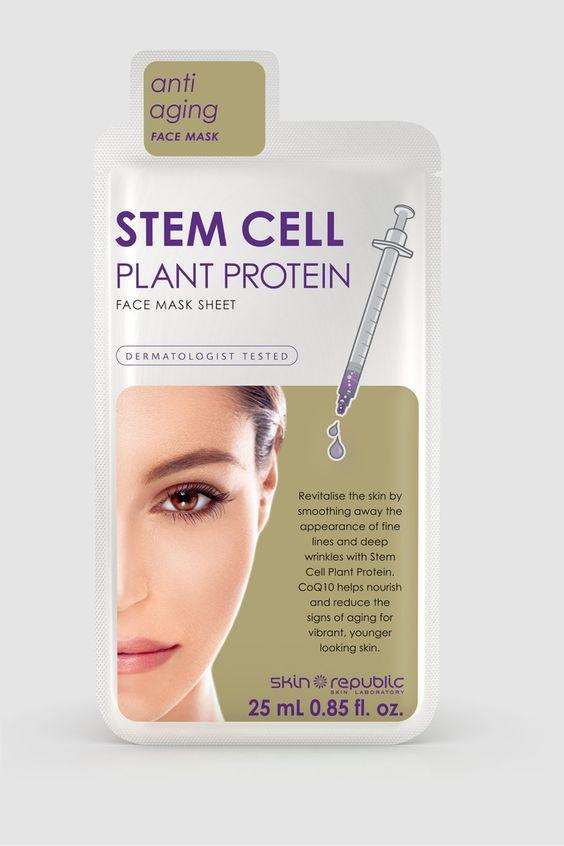 قناع بروتين الخلية النباتية الجذعية للوجه Anti Aging Face Mask Aging Signs Deep Wrinkles
