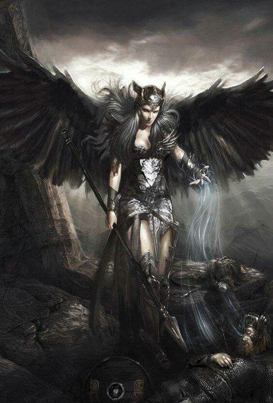 Fallen Aasimar Warrior Princess Angel Warrior Dark