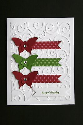 "Card Kit Elegant Butterflies ""Teeny Tiny Wishes"" All Occasion w Stampin Up Prod 