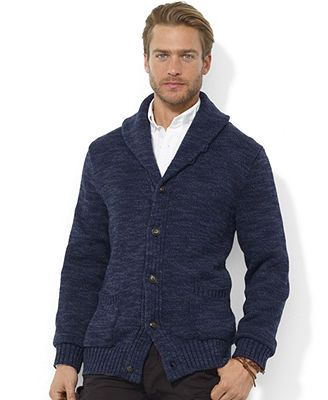 Polo Ralph Lauren Sweater, Carded Shawl Collar Cotton Cardigan
