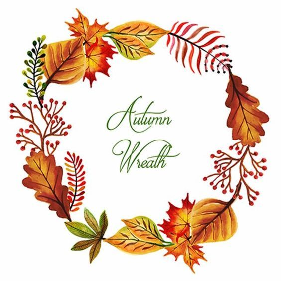 Pin By Anavi On Flavors Of Fall Decor Fall Watercolor Wreath Watercolor Wreath Drawing