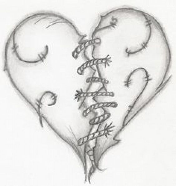 Broken Heart Drawing Google Sogning Relationship With Images