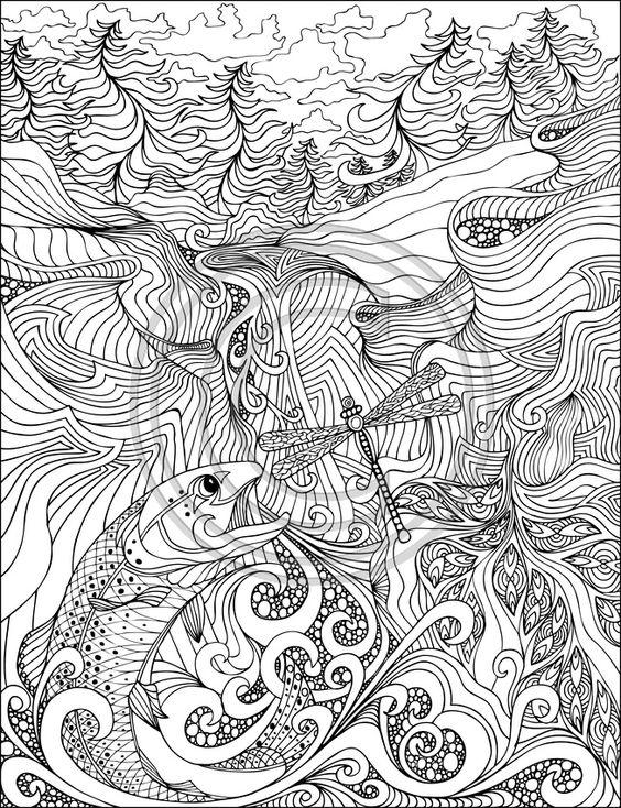 salmon mandala coloring pages - photo#6