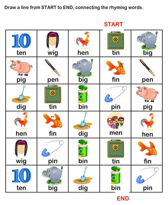 ESLEFL Worksheets Kindergarten Worksheets Rhyme Time Worksheets – Esl Worksheets for Kindergarten