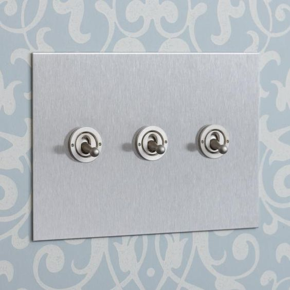 USA Stainless Steel Three Gang Toggle Switch