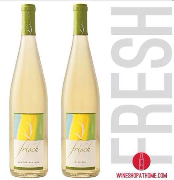SPRING into our newest refreshing white #wines!  Frisch's Riesling & Gewürztraminer   SHOP | www.VinoSocialShop.com