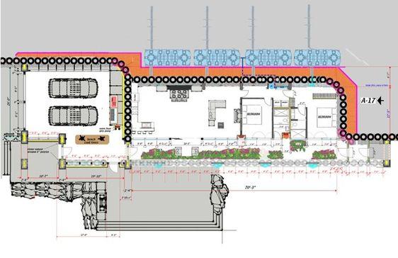 Earthship Home Floor Plans: Earthship Montana Like The Garage Option