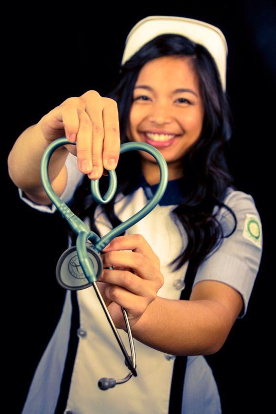 Nursing graduation picture. Stethoscope heart.  #photography #nurse #graduation #heart #vintage