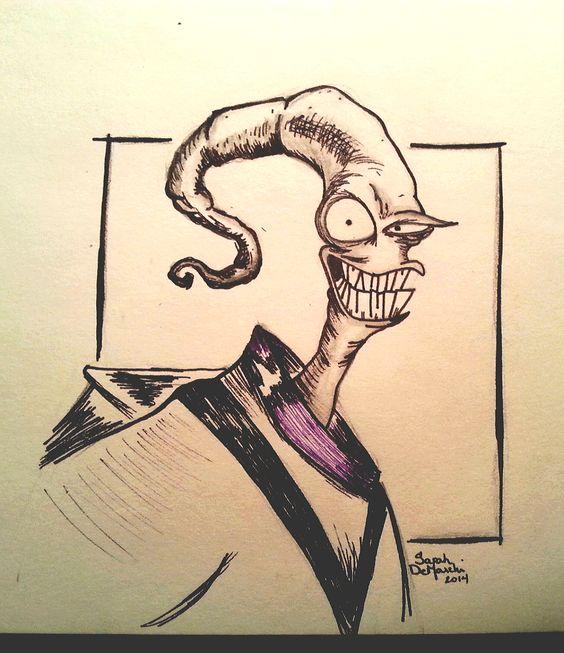 Earthworm Jim drawing I did last week.