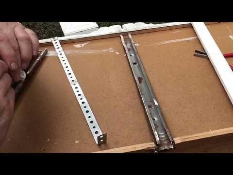 Fix Metal Drawer Tracks Diy Repair Hack Dresser Broken Tracks Guides Youtube Drawer Tracks Old Dresser Drawers Diy Dresser Makeover