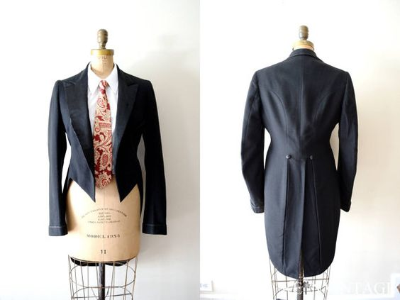 Tuxedo jacket with tails for women