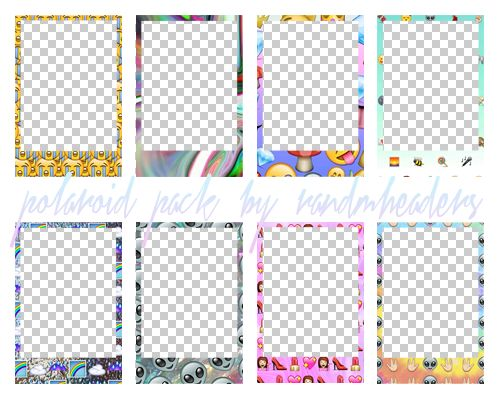 polaroid frame transparent background - Google Search