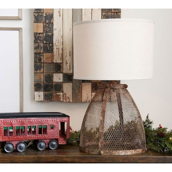 Pottery Barn Zadie Caged Wire Table Lamp 209 Liked On Polyvore Featuring Home Lighting Table Lamps Cage Lamp Pottery Barn L Wire Table Table Lamp Lamp