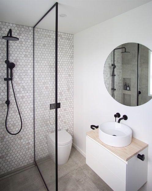 Small Ensuite Renovation Modern Small Bathroom Ideas Stunning Feature Wall Small Bathroom Incredible E In 2020 Modern Small Bathrooms Elegant Bathroom Small Bathroom