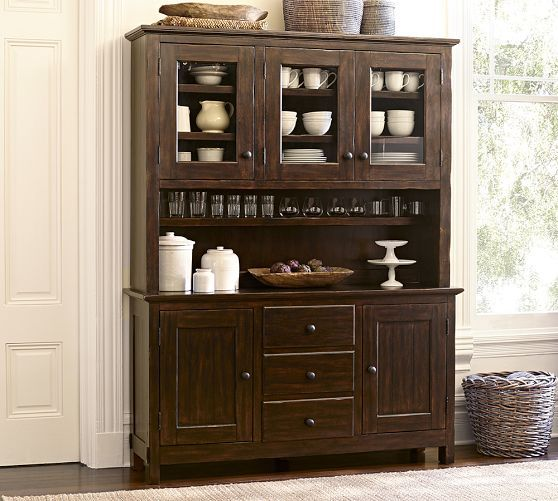 Moveable Solid Wood Ceramic Buffet Kitchen Sink Cabinet: Benchwright Buffet & Hutch Buffet Is Fitted With Two