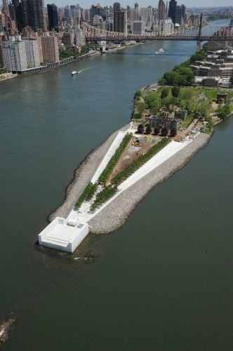 Visit the new Four Freedoms Park on Roosevelt Island, Louis Kahn's first planned structure in NYC, almost 40 years in the making!