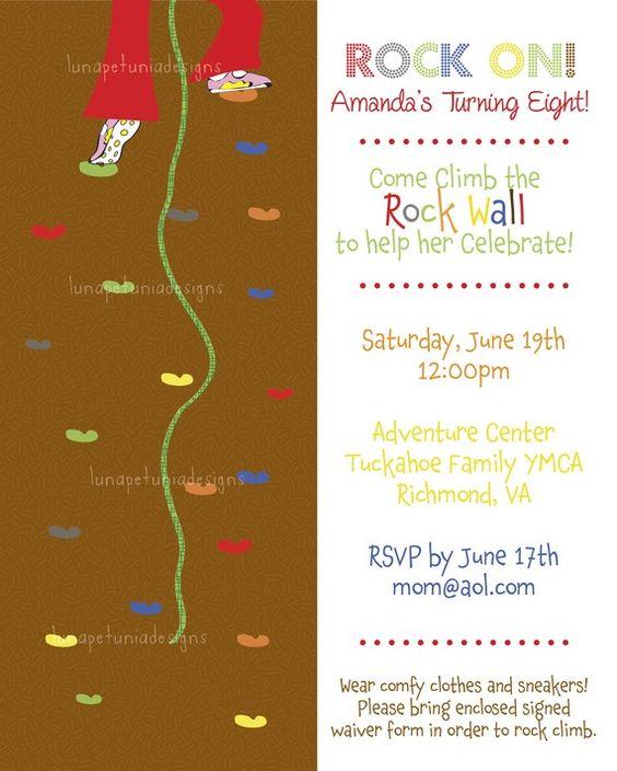 Pinterest The worlds catalog of ideas – Rock Climbing Birthday Party Invitations