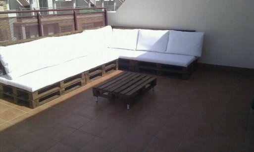 Terraza chill out con palets f cil y barato todo - Chill out terraza ...