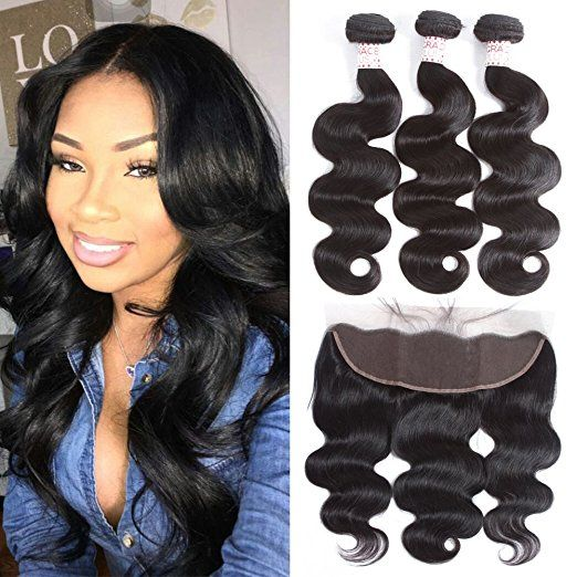 Grace Plus Hair Brazilian Body Wave 3 Bundles With Frontal Ear To Ear Front Lace Wigs Human Hair Brazilian Straight Human Hair Brazilian Human Hair Extensions