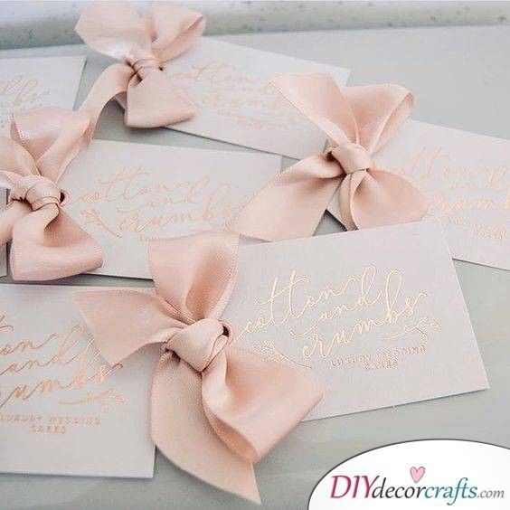 Elegant Bows Cute Diy Wedding Invitation Cards Handmade Wedding Invitations Diy Wedding Invitation Cards Wedding Invitations Diy
