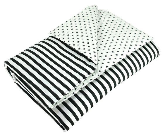 sugarapple Steppdecke Streifen schwarz/weiß 100x150cm bei Fantasyroom online kaufen