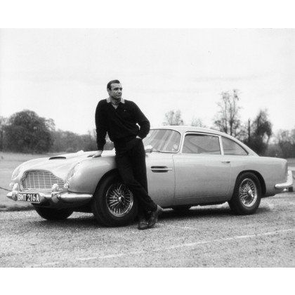 Sean Connery with Aston Martin DB5 Goldfinger (1964)