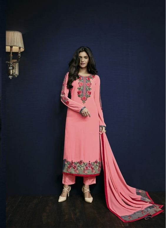 Mod Peach Sentoon Indian Traditional Salwar Suit