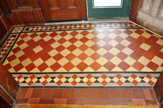 Geometric Tile Pattern From An 1890 Stick Victorian In