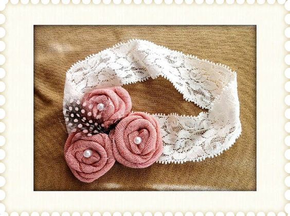 Handmade headband sizes newborn  adult by creationsforchildren