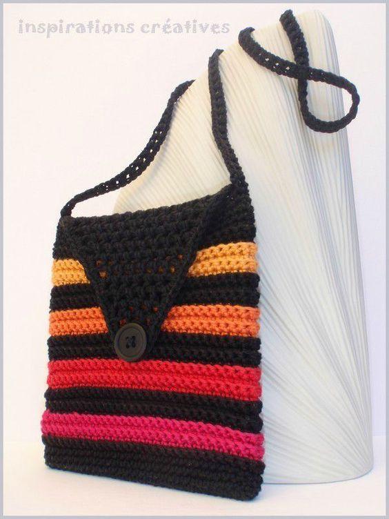 tuto sac pochette pour fillette au crochet crochet pinterest crochet et tuto sac. Black Bedroom Furniture Sets. Home Design Ideas