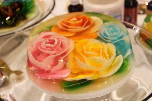 sculpted gelatin flowers jello molds jello and flower. Black Bedroom Furniture Sets. Home Design Ideas