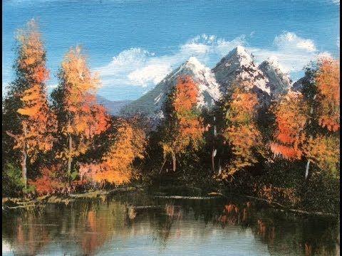 Malen Wie Die Grossen Kunstler Berglandschaft Nach Bob Ross Teil 1 2 Youtube Berglandschaft Bob Ross Landschaften Malen