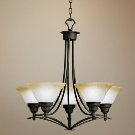 "Pomeroy 5-Light Chandelier - 27"" wide--too big???"