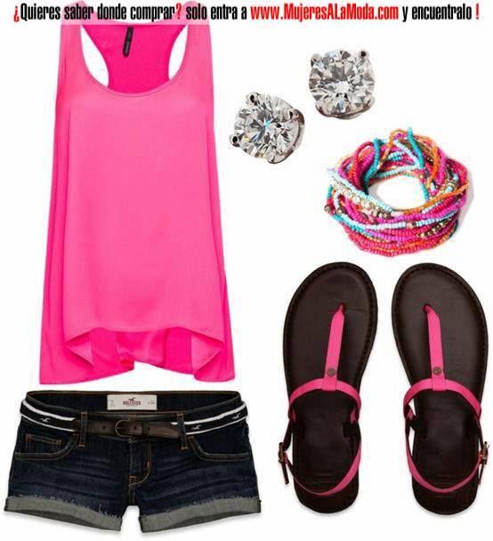 Combinaciones con rosado y negro