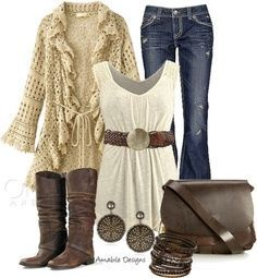 Cute Country Outfit Ideas   Country Chic With nicer jeans, this ...